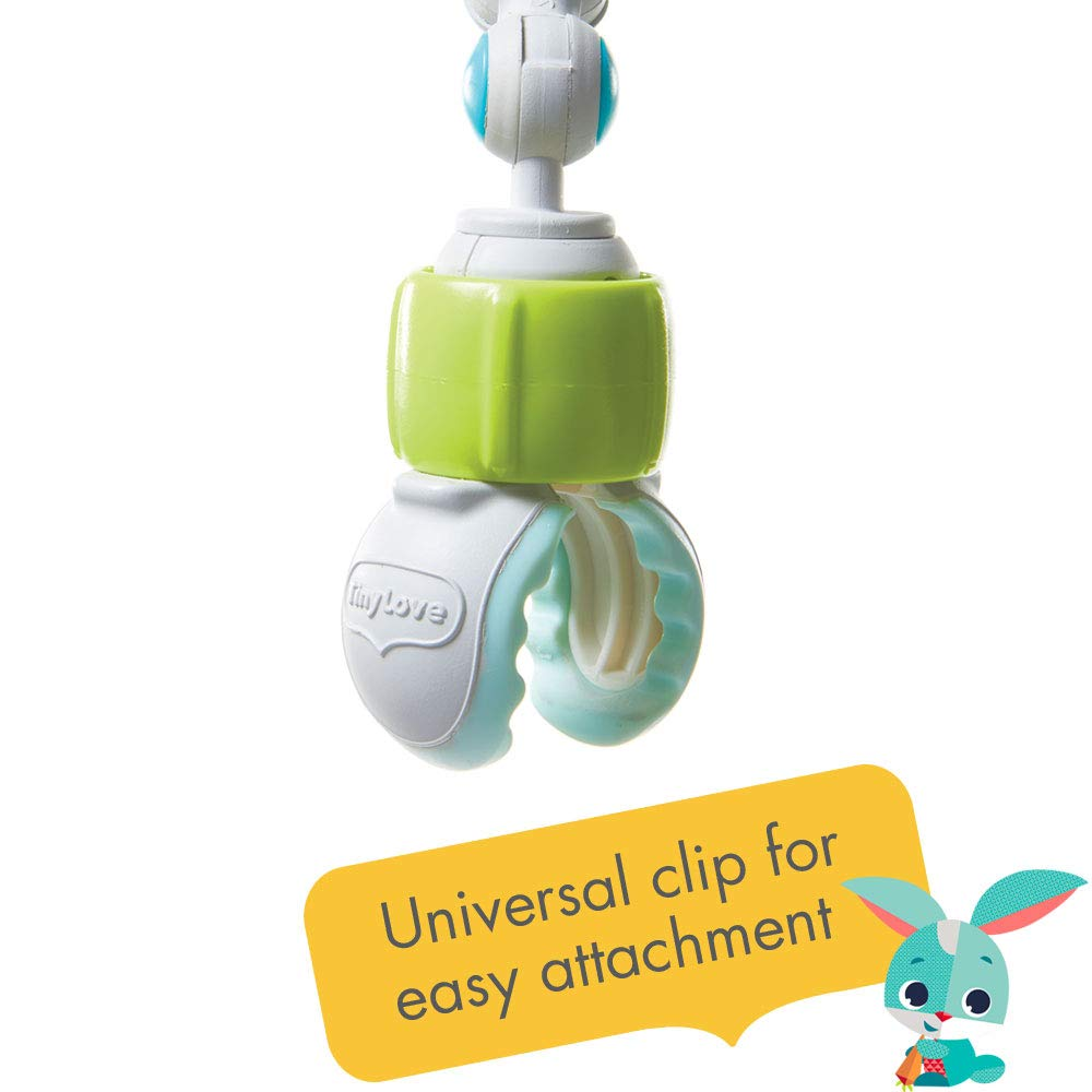 Universal clip  for easy attachment on the TINY LOVE Meadow Days Sunny Stroll Stroller Arch BabyToy