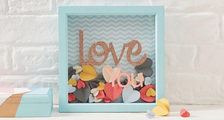 Hobbycraft Heart Confetti Box Frame Tutorial
