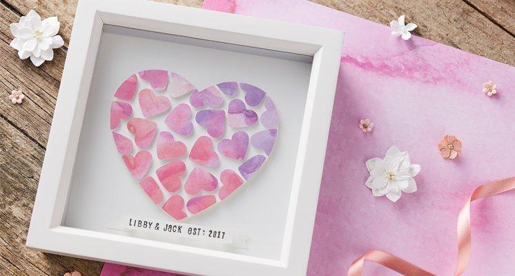 Hobbycraft Paper Heart Box Frame Tutorial