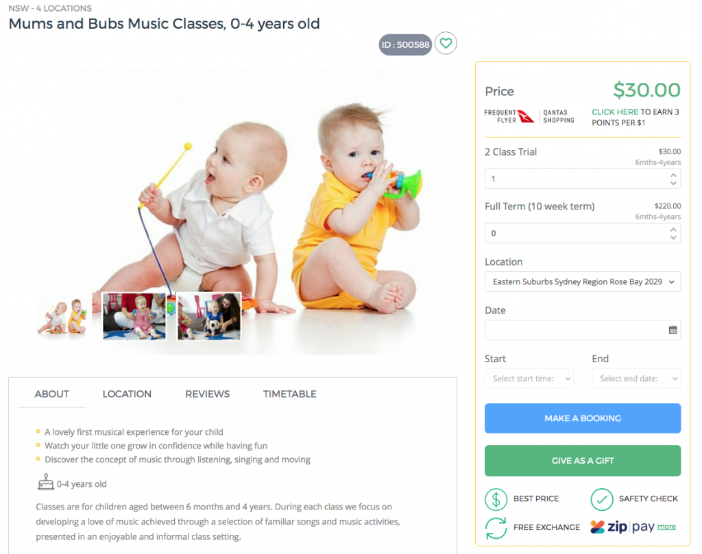 Mums and Bubs Music Classes - baby sensory development class