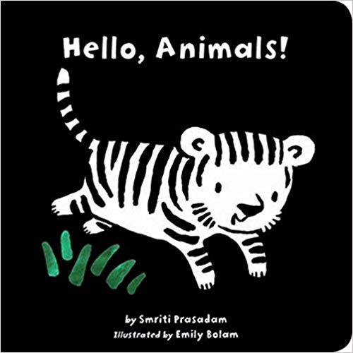 Cover design of a bestselling black and white baby board book on Amazon AU