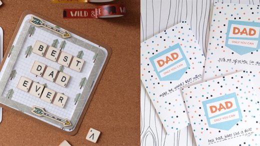 5 quick easy creative DIY Father's Day cards