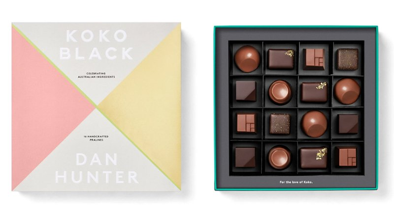 Koko Black x Dan Hunter Gift Box 16 Piece Assorted Premium Chocolates - made in Australia