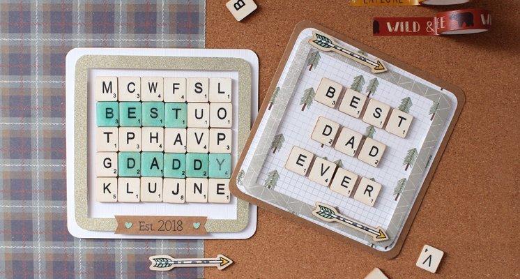 Hobbycraft Scrabble Tiles Letter Card Tutorial