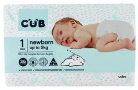 CUB Unisex Ultra Dry Newborn Nappies
