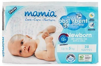 ALDI Mamia Unisex Newborn Nappies
