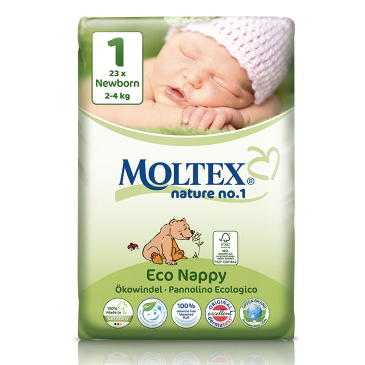 Moltex Eco Nappies Newborn 2-4kgs