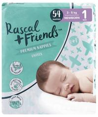 Rascal & Friends Unisex Premium Newborn Nappies