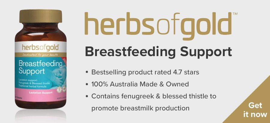Herbs of Gold Breastfeeding Support - breastfeeding supplement Australia