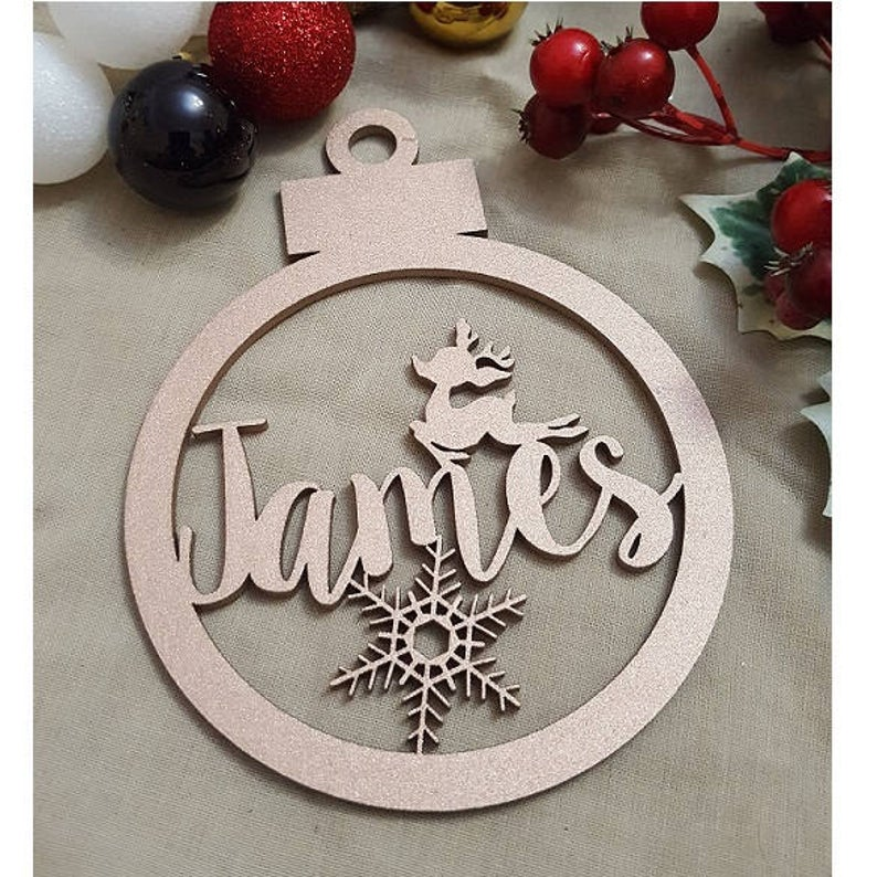Laser Cut Wooden Christmas Ornament