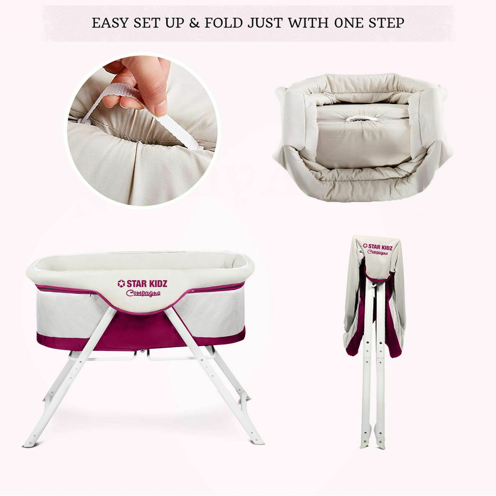 Star Kidz Compagno Baby Bassinet