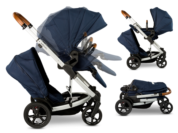 The original first generation Redsbaby Jive (2015) tandem double pram