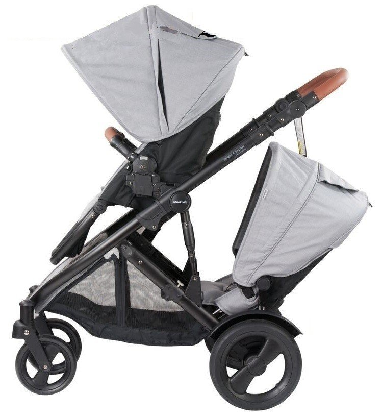 Steelcraft Strider Compact double pram