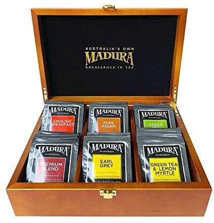 Madura tea chest with tea variety