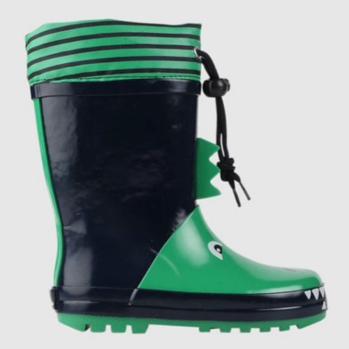 green black dinosaur boys gumboot for kids