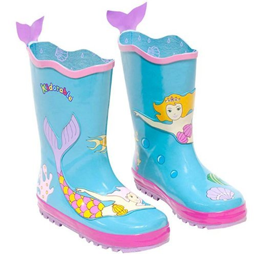 mermaid kidorable gumboots with mermaid tails
