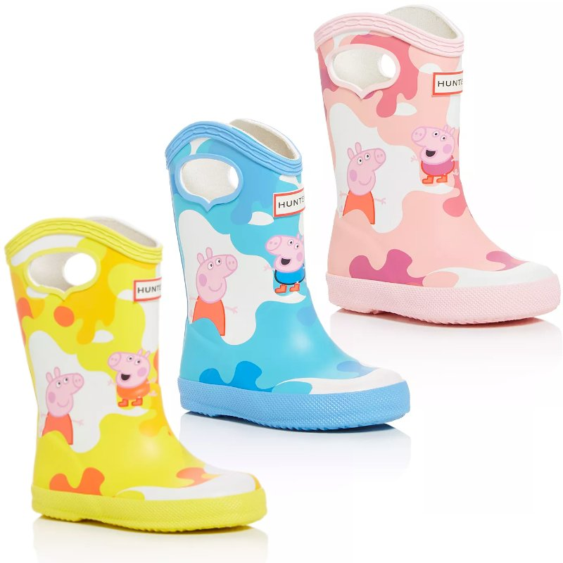 peppa pig gumboots yellow blue pink
