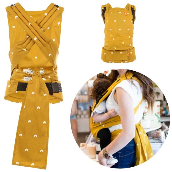 Yellow Half Buckle Carrier by Baby Tula