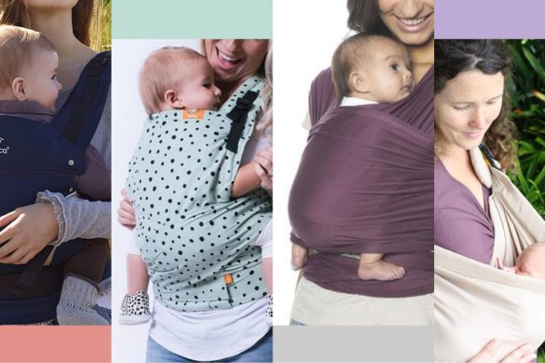 different types of baby carriers - full buckle, half buckle, baby wrap, mei tai