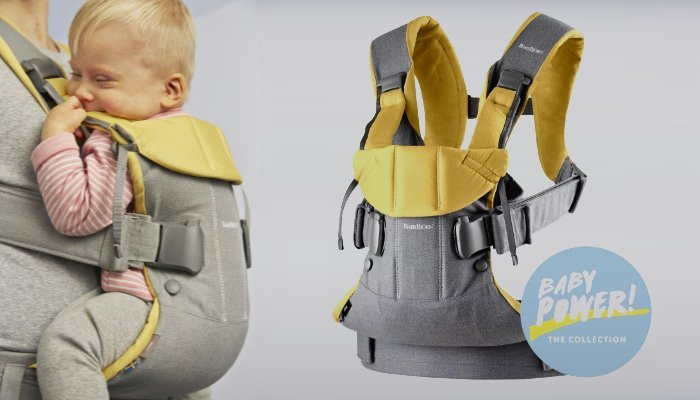 babybjorn carrier one special edition yellow and denim grey