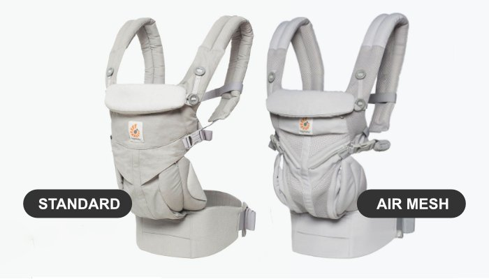 ergobaby omni 360 standard baby carrier vs cool air mesh