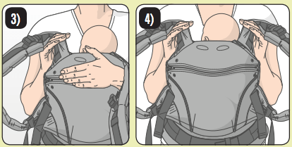 how to use Manduca for back carry with babies