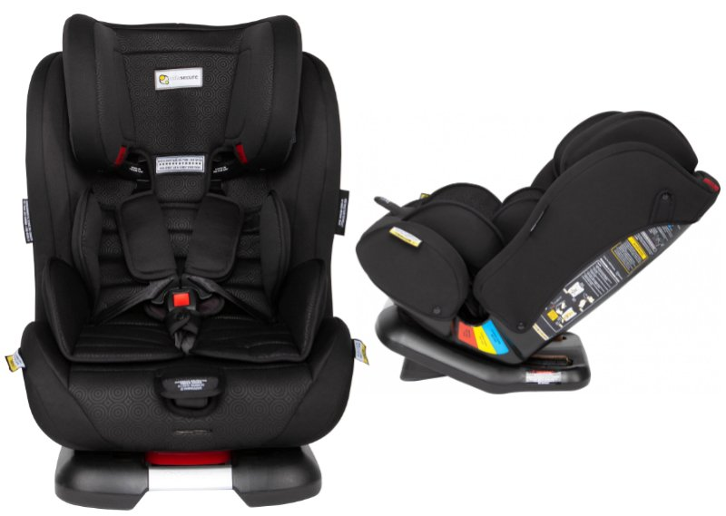 Infasecure Luxi II Caprice black convertible car seat newborn to 8 years