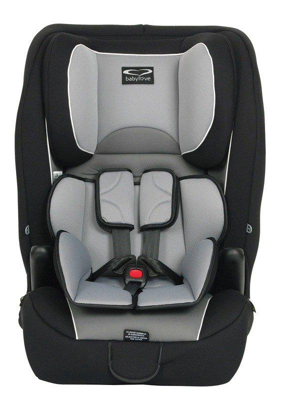 babylove ezy grow convertible car seat grey with harness
