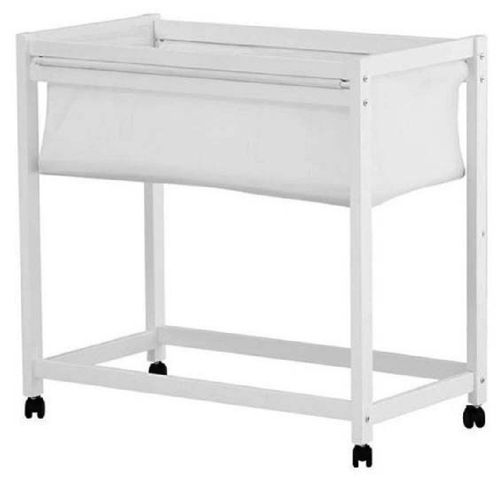 Tasman Essentials Rascali white wooden bassinet