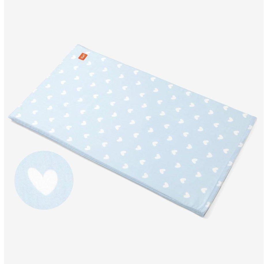 cotton cot sheet blue hearts