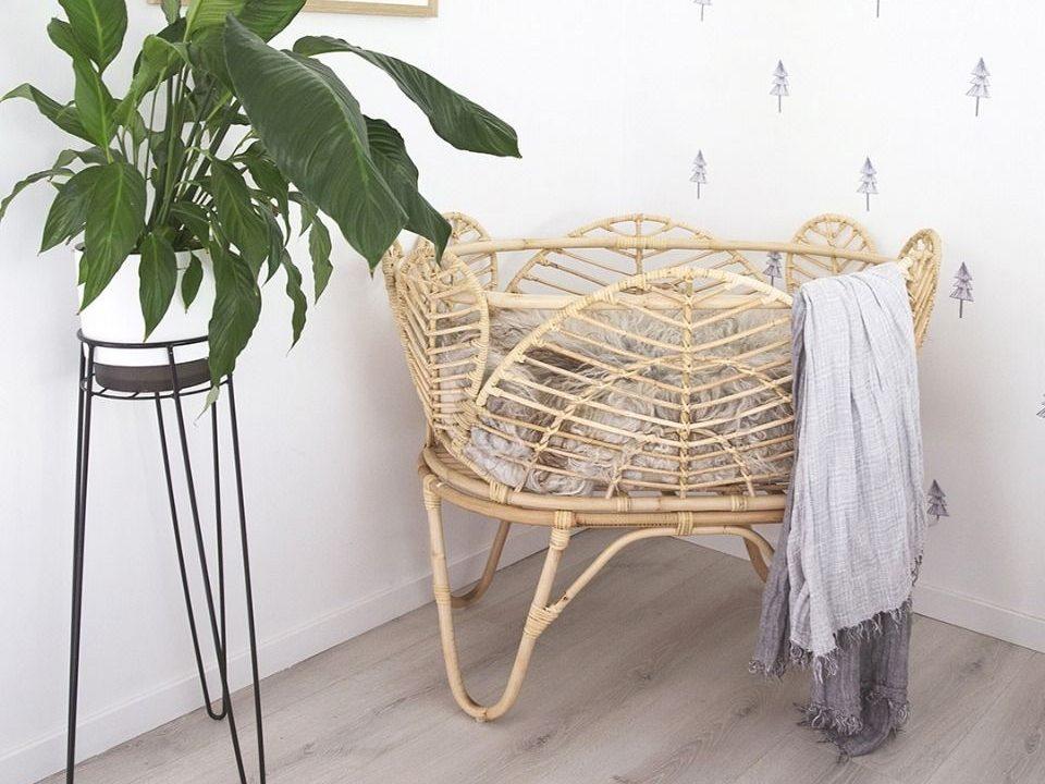 willow rattan bassinet